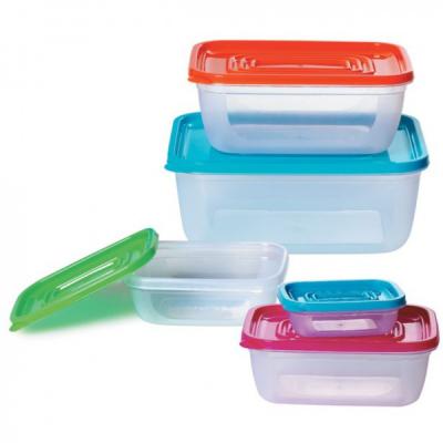 Set 5 Caserole Plastic pentru Alimente cu capac Bohmann BH58
