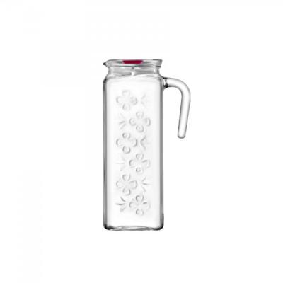 Set 6 Carafe sticla 1,2L cu capac Bloom BLO120