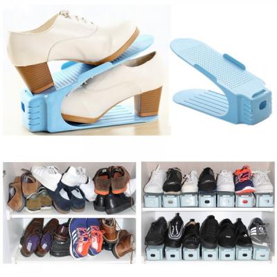 Set 6 Suport Organizator Pereche Pantofi 25.5x10x12cm Albastru SR9143 JU