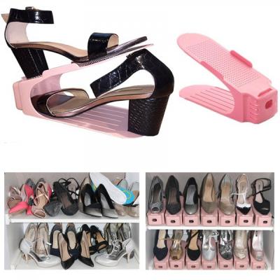Set 6 Suport Organizator Pereche Pantofi 25.5x10x12cm Roz SR9143 JU