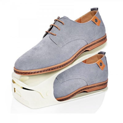 Set 6 Suport Organizator Pereche Pantofi Reglabil 26x10x13cm Alb