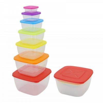 Set 7 Caserole Plastic pentru Alimente cu capac Grunberg GR3751