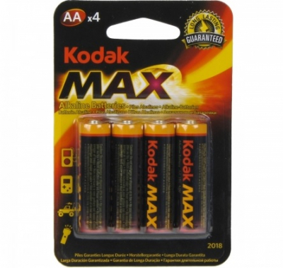 Set 80 Baterii Alcaline Kodak MAX, tip AA / LR6