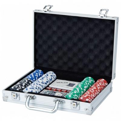 Set de poker 200 Chipuri  in Cutie Aluminiu tip Servieta