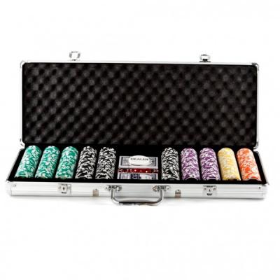 Set de poker 500 Chipuri Cutie aluminiu tip Servieta
