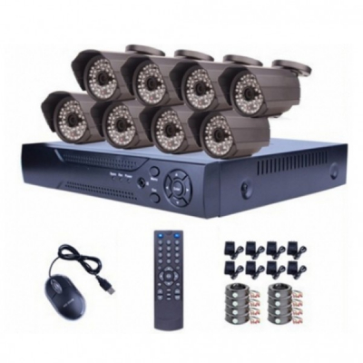 Sistem Supraveghere  DVR 8 Camere AHD 1200L CCTV Exterior Infrarosu D1