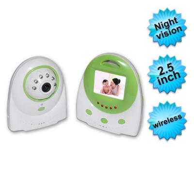 Sistem wireless audiovideo supraveghere copii cu display lcd 2,4inch,