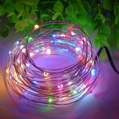 Snur Luminos 100 Micro LED Multicolore 10m Fir Silver 12V IP20
