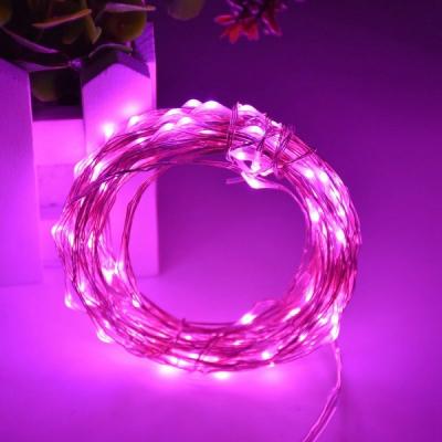 Snur Luminos 100 Micro LED Roz 10m Fir Silver 12V IP20
