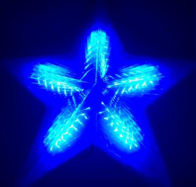 Stea Luminoasa de Craciun 50cm LEDuri Albastre 220V TO