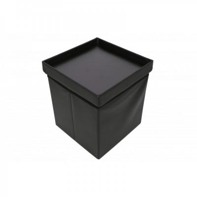 Taburet Pliabil Depozitare Capac Reversibil 38x38cm TB75 Negru