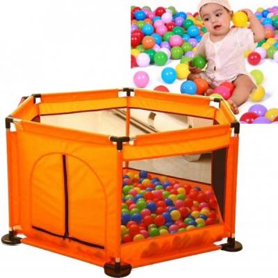 Tarc Copii Loc Joaca 50 Bile 128x113x65cm Child Safety Fence Portocaliu