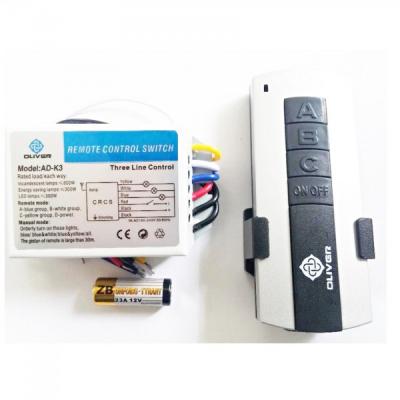 Telecomanda Wireless Universala pentru Lustra 3 canale Oliver ADK3