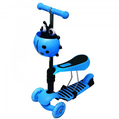 Trotineta Copii Micro Scooter 3in1 2-7 Ani 25Kg Albastra