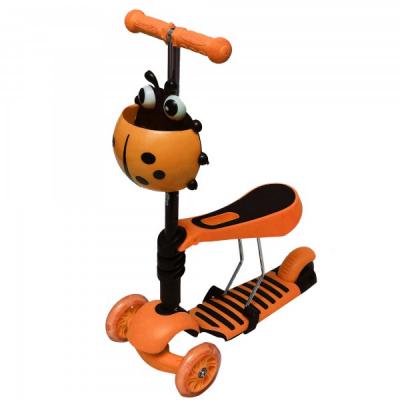 Trotineta Copii Micro Scooter 3in1 2-7 Ani 25Kg Portocalie