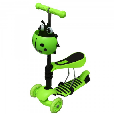 Trotineta Copii Micro Scooter 3in1 2-7 Ani 25Kg Verde