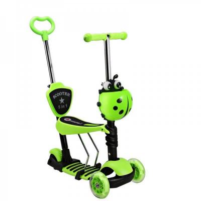 Trotineta Copii Scooter 5in1 1-8 Ani 40Kg cu Manere O si T Verde