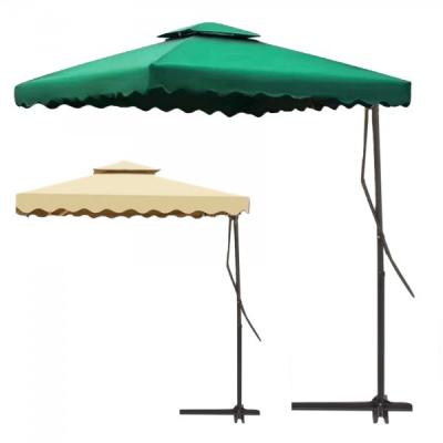 Umbrela de Gradina Patrata cu Picior Lateral si Suport 1.8x1.8m ZLN