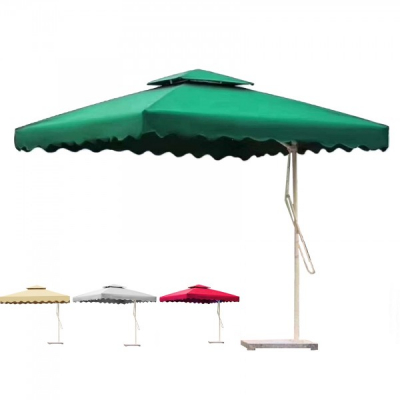 Umbrela de Gradina Patrata cu Picior Lateral 2.2x2.2m