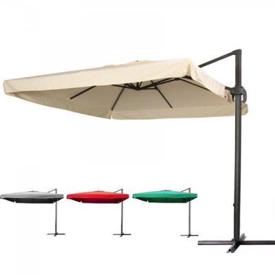 Umbrela de Gradina Patrata cu Picior Lateral si Suport 2.5x2.5m