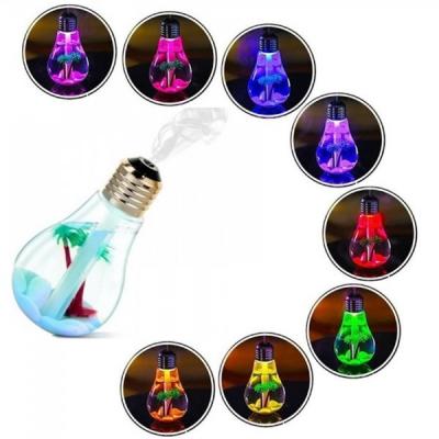 Umidificator Aer Iluminat Bec LED Color 400ml Alimentare USB
