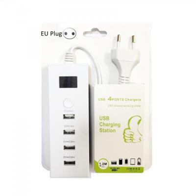 USB Hub 4 Porturi USB 2.0 cu Buton ON/OFF 220V YCYD001