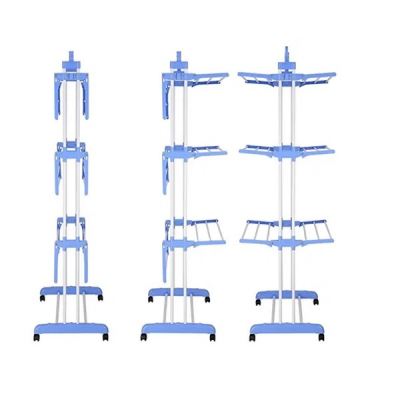 Uscator Vertical Rufe 3 Randuri cu Suport Umerase Pliabil 175cm