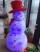 Figurina Om de Zapada cu LEDuri Albastre 120cm
