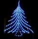 Brad de Craciun din Furtun Luminos cu LEDuri Albe 100cm