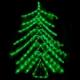 Brad de Craciun din Furtun Luminos cu LEDuri Verzi 100cm