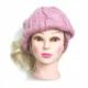 Caciula Lunga Tricotata Roz de Dama