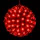 Glob Luminos de Craciun cu 200 LEDuri Rosii 220V 23cm